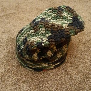 Camouflage Slouch Handmade Beanie Hat